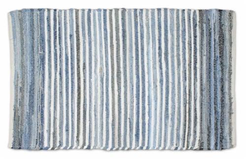 Dii Multi Denim Rag Rug 4X6-Ft Perspective: front