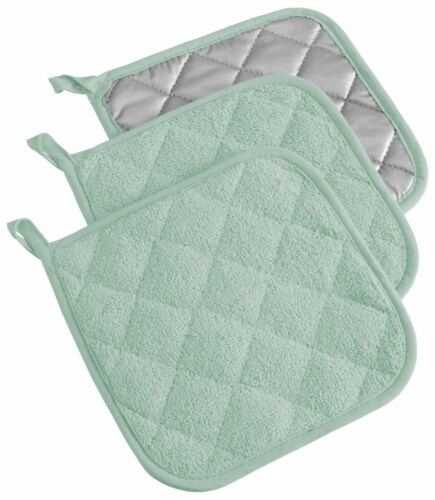 DII Mint Terry Potholder (Set of 3) Perspective: front