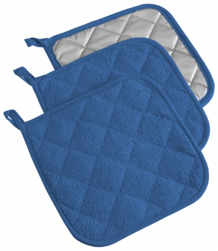 DII Blueberry Terry Potholder (Set of 3) Perspective: front