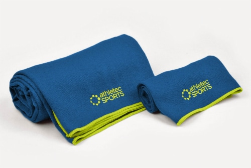 DII Yoga Towel Blue (Set of 2) Perspective: front