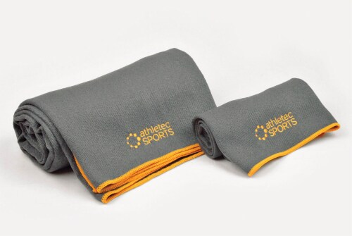 DII Yoga Towel Gray (Set of 2) Perspective: front