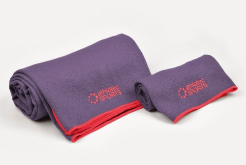 DII Yoga Towel Purple (Set of 2) Perspective: front