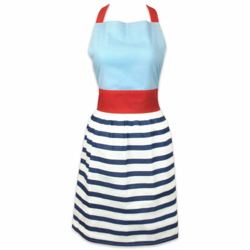 DII Striped Skirt Apron Perspective: front