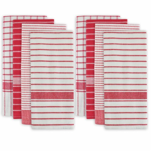 DII Red Basic Dishtowel (Set of 8) Perspective: front