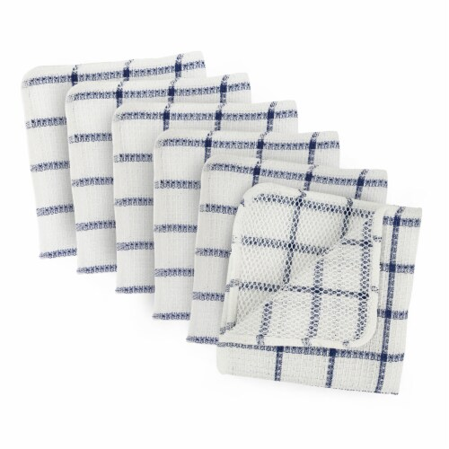 DII Nautical Blue Scrubber Dishcloth (Set of 6) Perspective: front