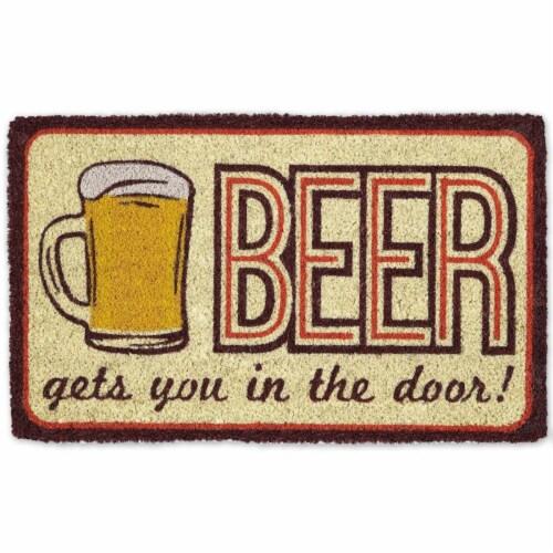 DII Beer Doormat Perspective: front
