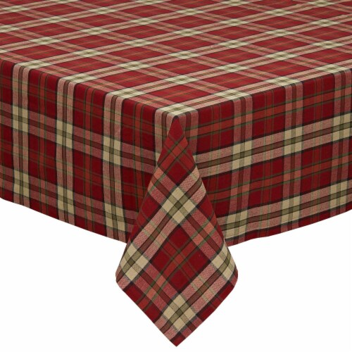 DII Campfire Plaid Tablecloth Perspective: front