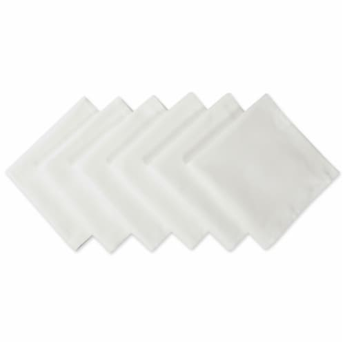 DII White Polyester Napkin (Set of 6) Perspective: front