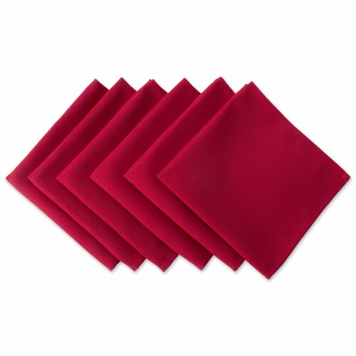 DII Red Polyester Napkin (Set of 6) Perspective: front