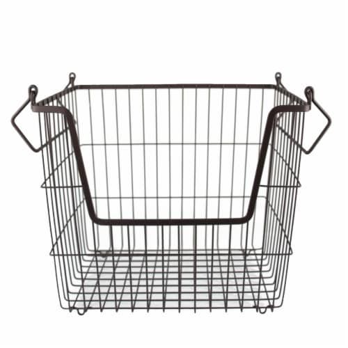 DII Metal Basket Bronze Rectangle Large Perspective: front