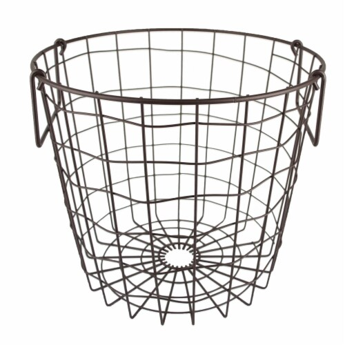 DII Metal Basket Bronze Round Small Perspective: front