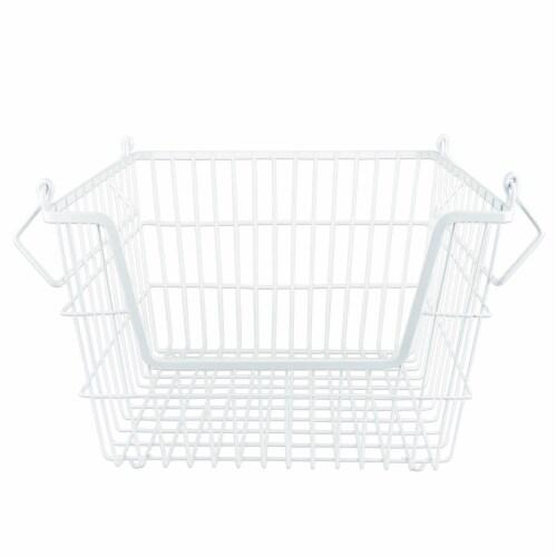 DII White Rectangle Metal Basket Medium Perspective: front
