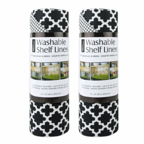DII Black Lattice Shelf Liner (Set of 2) Perspective: front