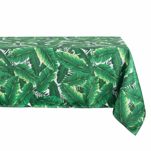 DII Banana Leaf Outdoor Tablecloth Perspective: front