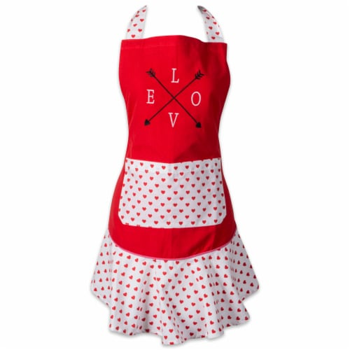 DII Love Struck Ruffle Apron Perspective: front