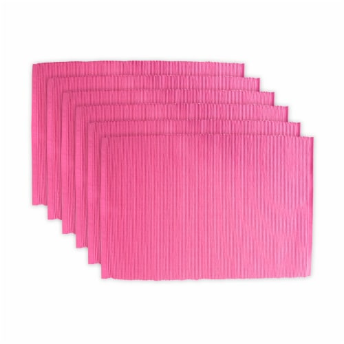 DII Flamingo Ribbed Placemat (Set of 6) Perspective: front