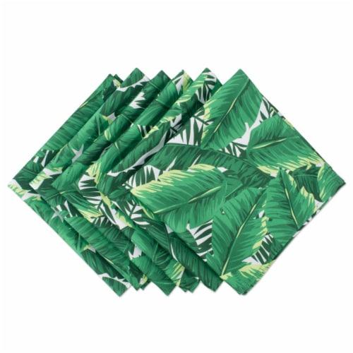 DII Banana Leaf Print Outdoor Napkin (Set of 6) Perspective: front