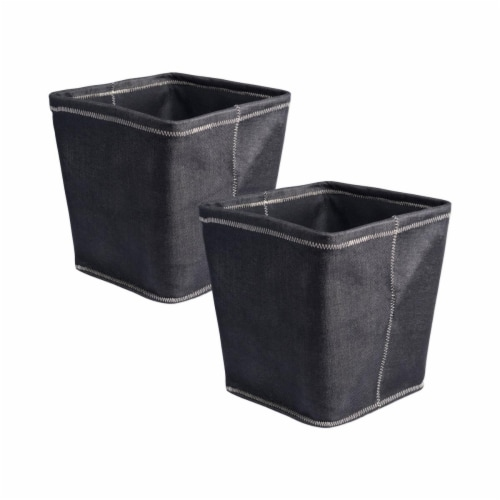 Design Imports CAMZ37624 13x13x13in Trapezoid ZigZag Stitch Variegated Poly Storage Bin, 2 Perspective: front