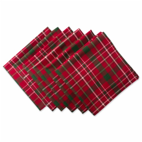 DII Tartan Holly Plaid Napkin (Set of 6) Perspective: front