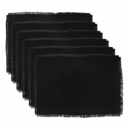 Design Imports CAMZ37826 Black Jute Placemat - Set of 6 Perspective: front