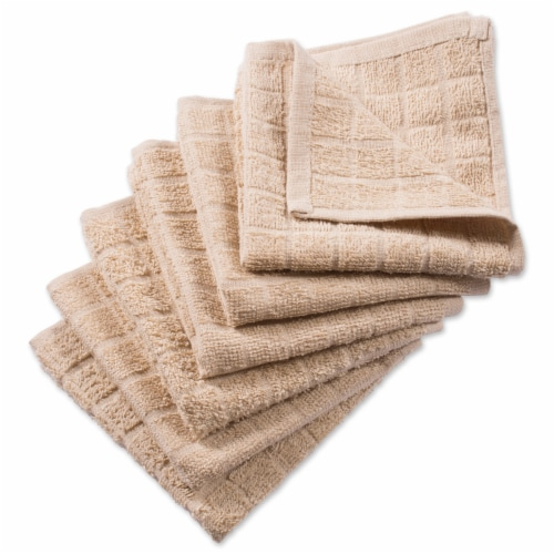 DII Solid Pebble Windowpane Terry Dishcloth (Set of 6) Perspective: front