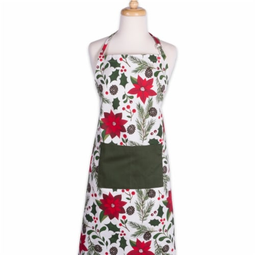 Design Imports Woodland Christmas Chef Apron Perspective: front