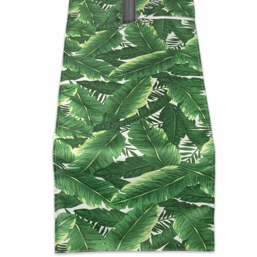 DII Banana Leaf Outdoor Table Runner With Zipper Perspective: front
