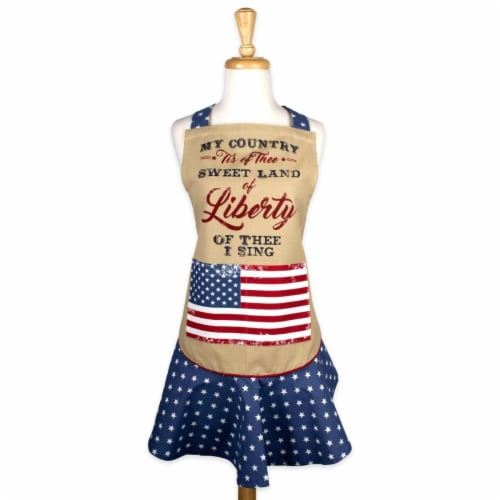 Design Imports CAMZ38785 Sweet Liberty Ruffle Apron Perspective: front