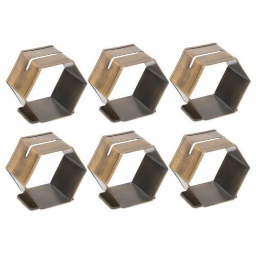 Design Imports CAMZ38988 Antique Brass Place Holder Napkin Ring - Set of 6 Perspective: front