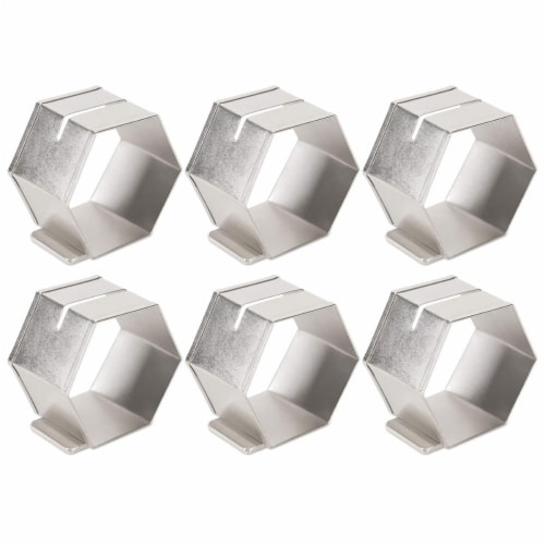 Design Imports CAMZ38989 Antique Silver Place Holder Napkin Ring Set - Set of 6 Perspective: front