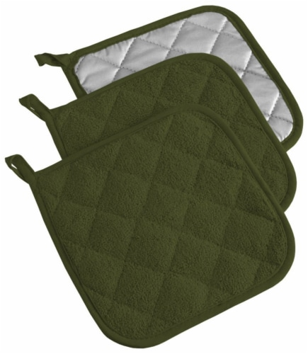 DII Sage Terry Potholder (Set of 3) Perspective: front