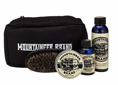 Mountaineer Brand  Complete Beard Care Travel Kit WV Timber Perspective: front
