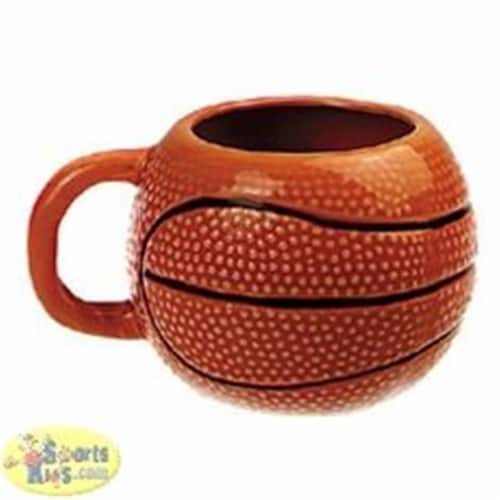 Tandem Sport 8''L x 6''H Ceramic Basketball Cup Perspective: front