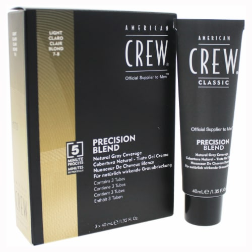 American Crew Precision Blend Hair Color Kit  # 78 Light Claro 3 x 1.35 oz Perspective: front