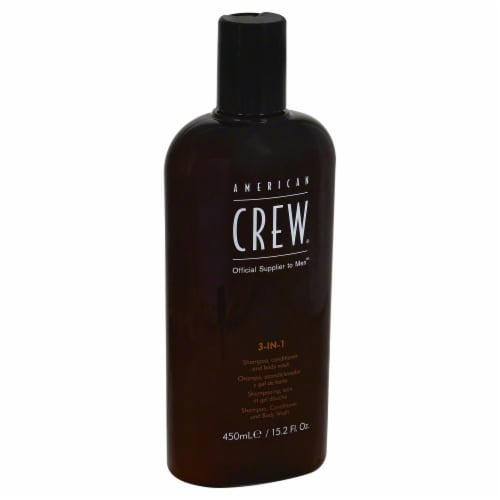 American Crew 3-in-1 Shampoo Conditioner & Body Wash Perspective: front