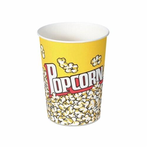 Solo. Cup V32 32 oz Paper Popcorn Cup - Popcorn Design, 50 Per Pack Perspective: front