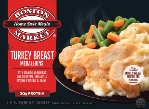 Boston Market Home Style Meals Turkey Breast Medallions Perspective: front