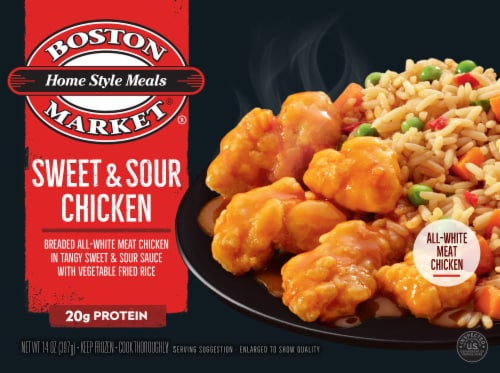 Boston Market Home Style Meals Sweet & Sour Chicken Perspective: front