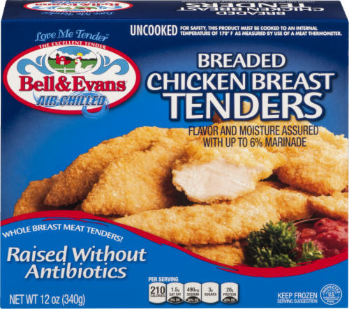 Bell & Evans Breaded Chicken Breast Tenders Perspective: front