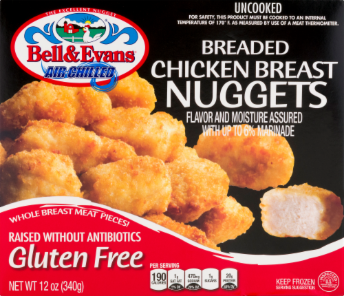 Bell & Evans Chicken Breast Nuggets Perspective: front
