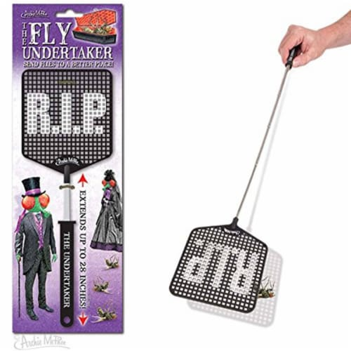 The Fly Undertaker Fly Swatter Perspective: front