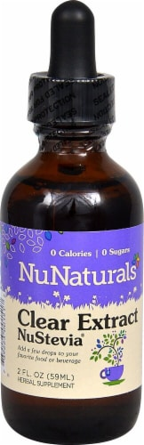 NuNaturals Clear Extract NuStevia Herbal Supplement Perspective: front