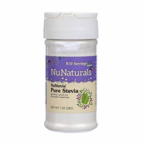 NuNaturals NuStevia Pure Stevia Extract Powder Perspective: front