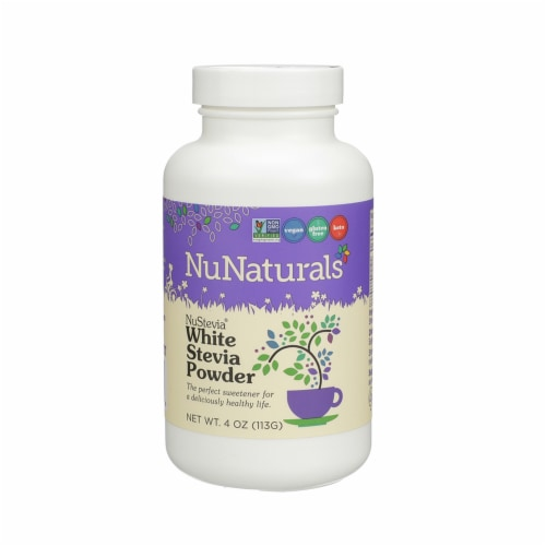 NuNaturals NuStevia White Stevia Powder Perspective: front