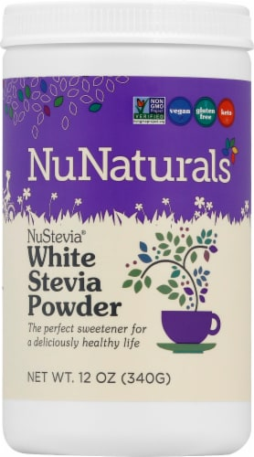 NuNaturals NuStevia™ White Stevia Powder™ Perspective: front