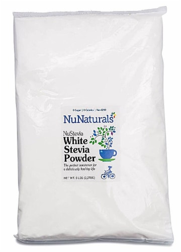 NuNaturals  NuStevia® White Stevia Powder Perspective: front
