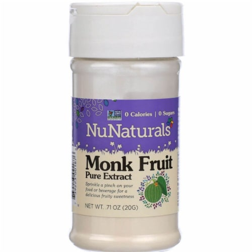 NuNaturals  Monk Fruit Pure Extract Perspective: front