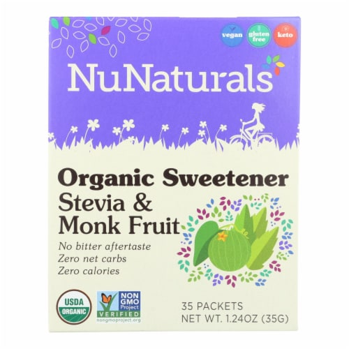 Nunaturals - Stevia And Monk Fruit - 1 Each - 35 CT Perspective: front