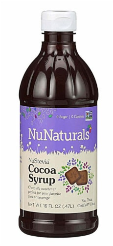 NuNaturals  NuStevia® Syrup   Cocoa Perspective: front