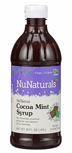NuNaturals  NuStevia® Syrup   Cocoa Mint Perspective: front